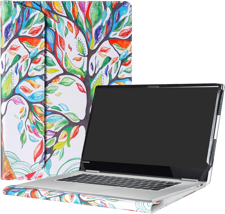 "Alapmk Protective Case for 15.6"" Lenovo Yoga 720 15 720-15IKB/Lenovo ThinkBook 15 15 IML 15 IIL/Lenovo ThinkPad E15 Gen 2 Laptop(Not fit Yoga 720 13 & 12.5/730/710/ThinkPad E15 1st),Love Tree"