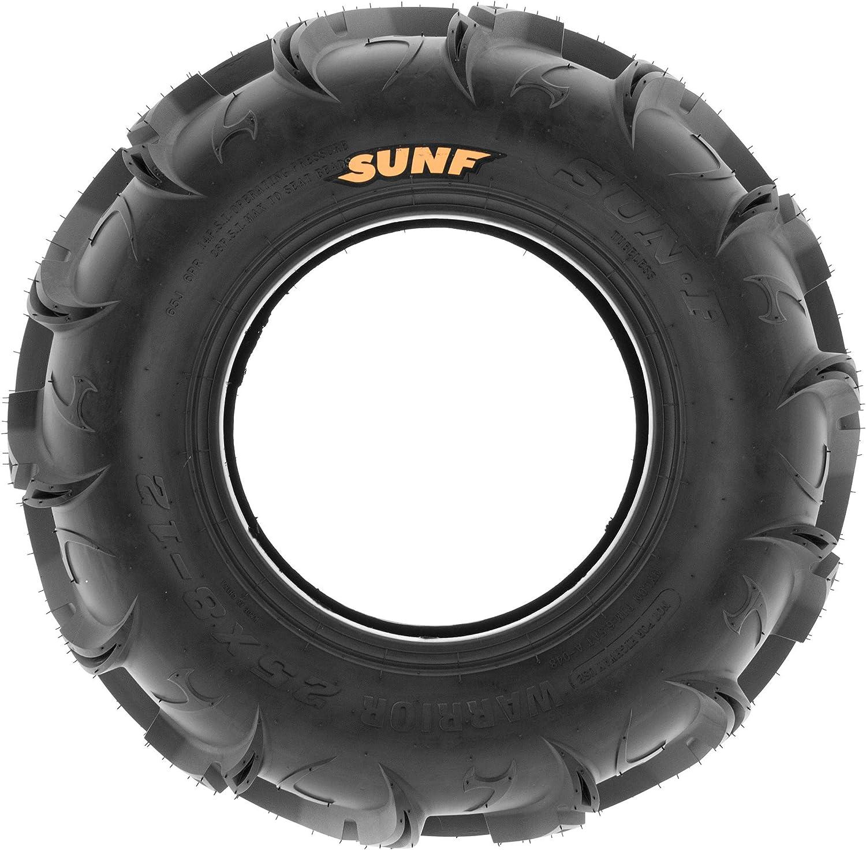 Single SunF ATV UTV 27x11-14 All Terrain 6 PR Tubeless Replacement Mud Tire A048,