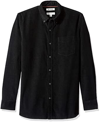 6a259fa3 Goodthreads Men's Standard-Fit Long-Sleeve Corduroy Shirt, -black, X-