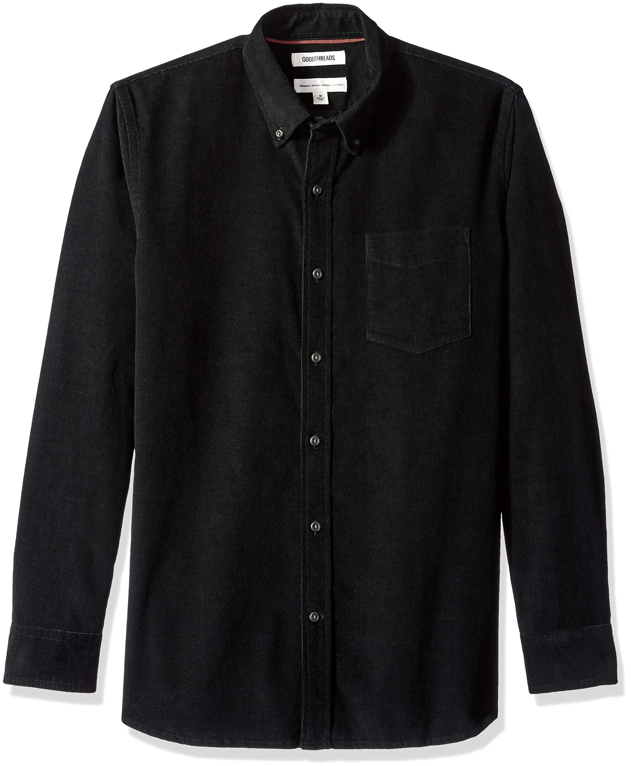 973fc9315c9ab1 Goodthreads Camicia a Maniche Lunghe in Velluto a Coste Standard Fit Uomo  product image