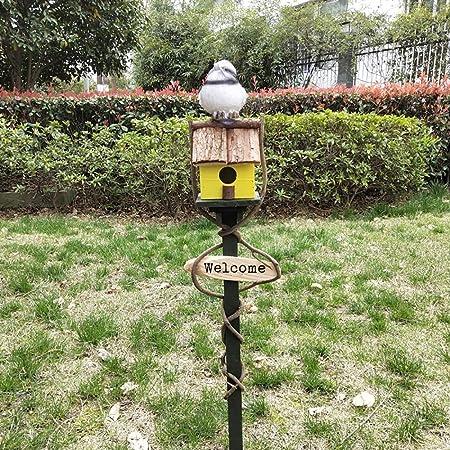 Casa del pájaro La alimentación de madera for pájaros del jardín Birdhouse protegido de extensión portátil Independientes Alimentación Tabla estación de la casa del pájaro para jardín, patio o balcón: Amazon.es: Hogar
