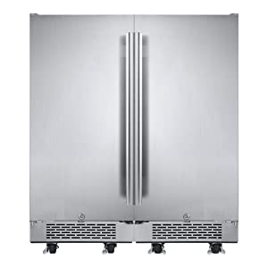 Avallon AFR151SSODDUAL Stainless Steel Built-in 30 Inch Wide 6.7 Cu. Ft. Total Capacity Side by Side Dual Refrigerators with Touch Controls and Door Locks