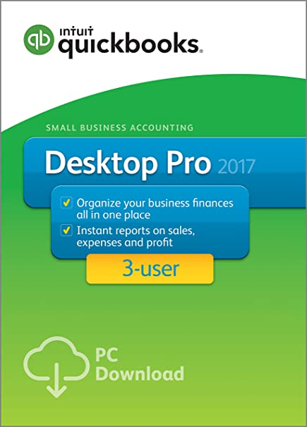 QuickBooks Desktop Pro 2017 Small Business Accounting Software 3-User [Old  Version]