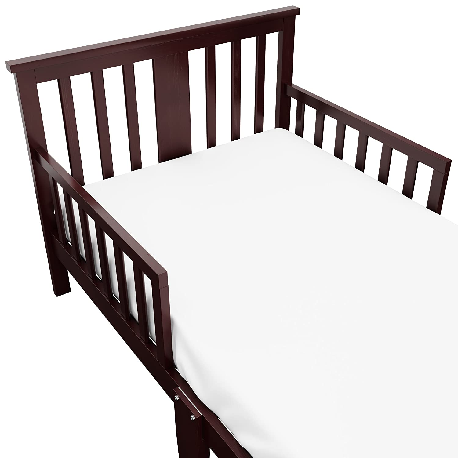 Guardrails on Both Sides for Protection Pine /& Composite Construction Meets or Exceeds all Federal Safety Standards Storkcraft Mission Ridge Toddler Bed Espresso Fits Standard-Size Toddler Mattress
