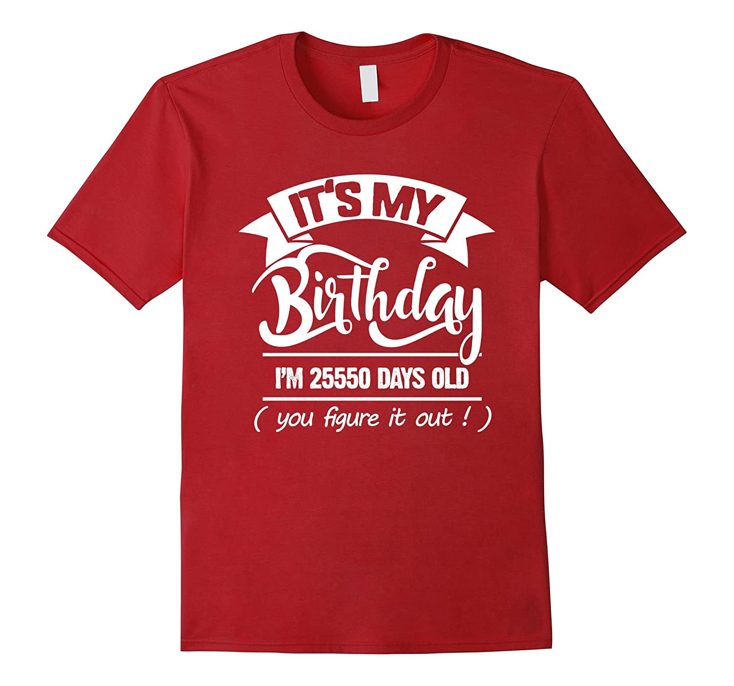 70th Birthday Gift Ideas Funny T Shirt For Men Women BN