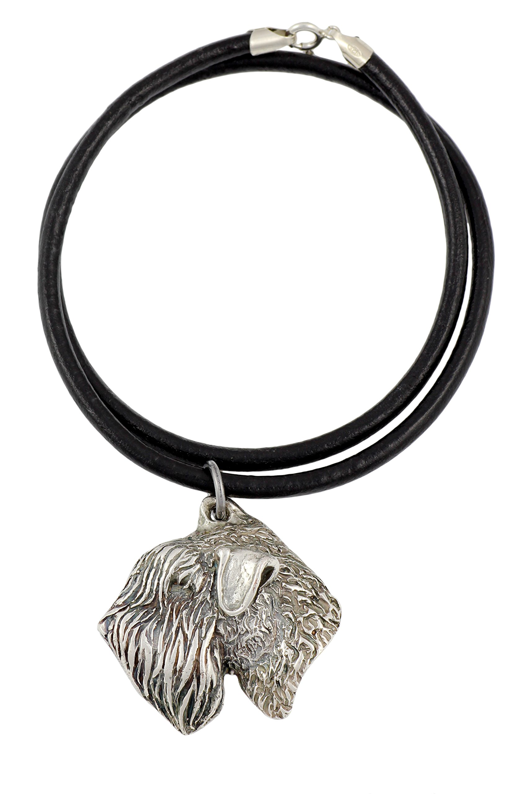 Soft-coated Wheatan Terrier , Silver Hallmark 925, Dog Silver Necklaces, Limited Edition, Artdog
