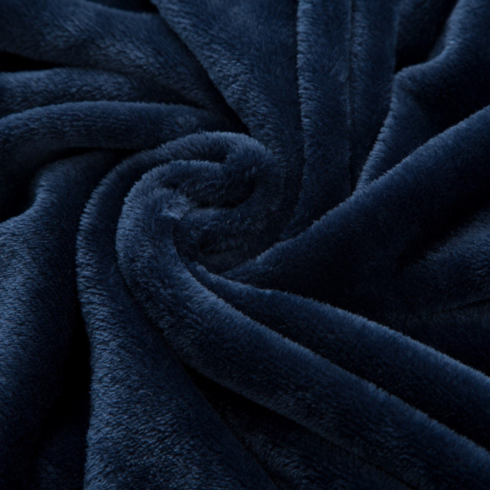 Moonen Flannel Throw Blanket Luxurious Throw Size Lightweight Plush Microfiber Fleece Comfy All Season Super Soft Cozy Blanket for Bed Couch and Gift Blankets (Navy Blue, 50x60 Inches)