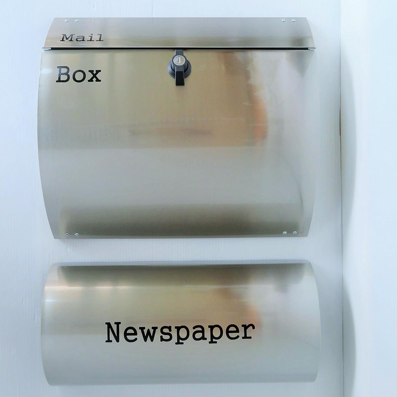 郵便ポスト郵便受けメールボックス壁掛けシルバーステンレス色プレミアムステンレスポストpm062 B018NNYMH2 12880