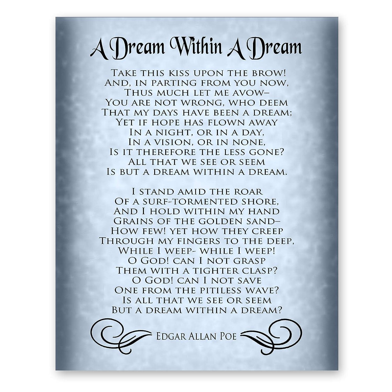 Amazoncom A Dream Within A Dream Poem By Edgar Allan Poe