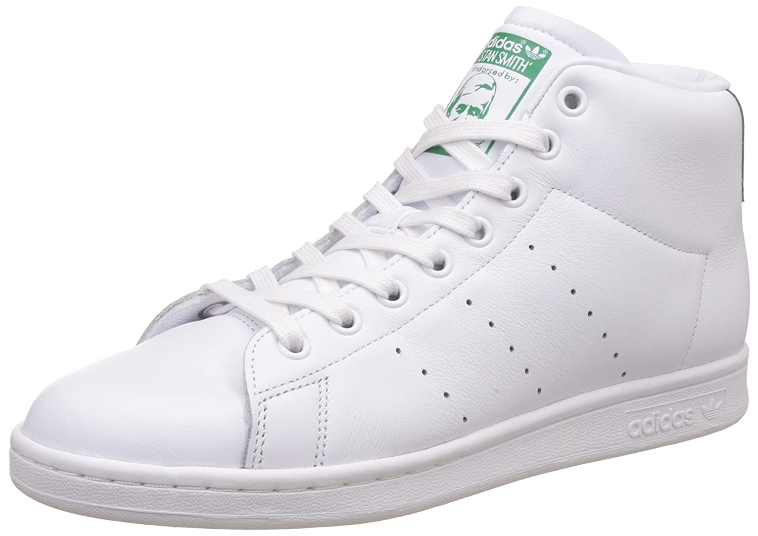 adidas Stan Smith Mid, Sneakers Basses Homme, Blanc ftwwht/Green, 46 2/3 EU: Amazon.fr: Chaussures et Sacs