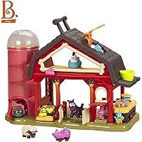 B. toys by Battat - Juego de Granja Musical Baa-Baa-Barn - Granja interactiva de Animales con 4 Animales y 2 Pelotas de Batalla para niños 2+ (7pcs)