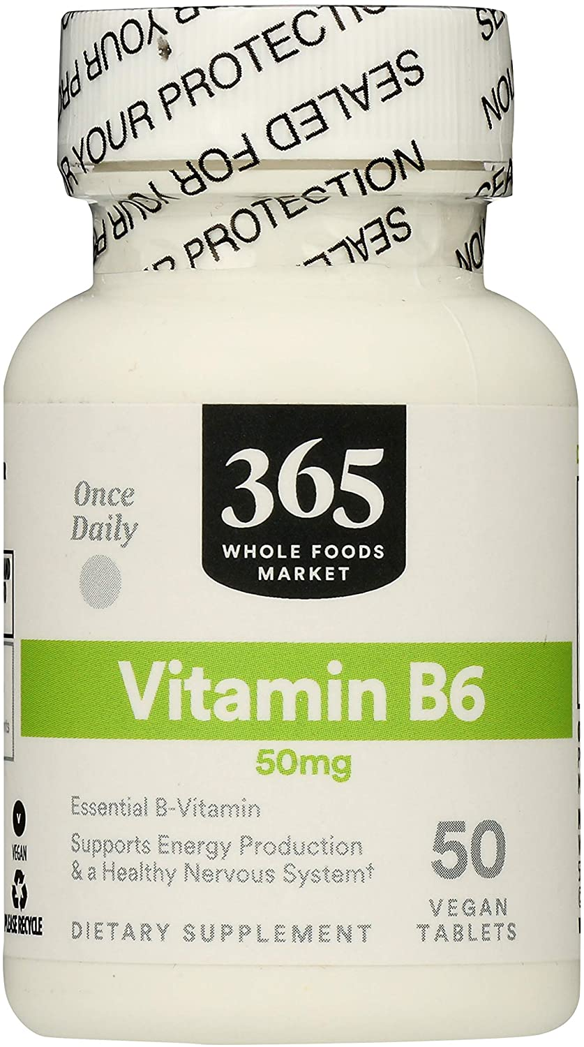 365 by Whole Foods Market, Supplements - Vitamins, B6 50mg, 50 Count
