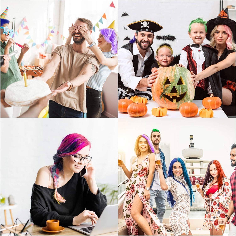 Ni/ñas Regalos para DIY Fiesta y Cosplay Dont have T/óxico Lavables Cabello Tiza Set Tiza de Pelo,10 colores Coloraci/ón Temporal Cabello