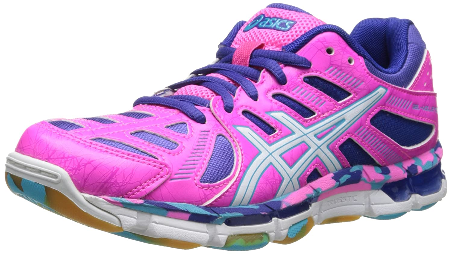 30a8571543f ASICS Gel-Volleycross Revolution Womens Netball Volleyball Shoes - Size  11  US or 27.5 cm - Color  Pink White  Amazon.com.au  Fashion