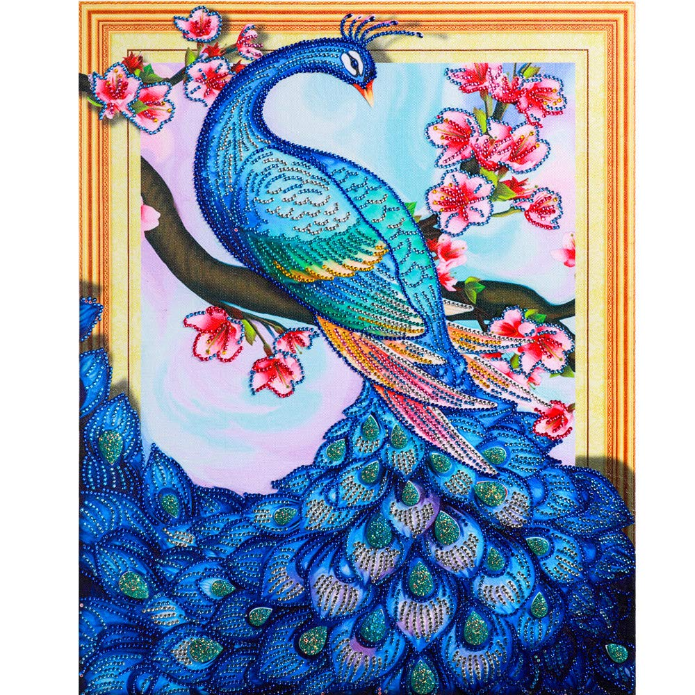 ❤️Yanvan❤️DIY 5D Diamond Painting,Owl Butterfly Drill Special Shaped Partial Drill Cross Stitch Kits Crystal Rhinestone of Picture Serial Diamond Embroidery Arts Craft D