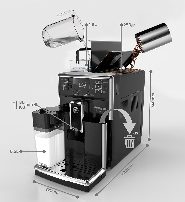 Philips Cafetera Espresso súper automática HD8925/01 Máquina de Café, 220 W, 1 Cups, plástico, Negro: Amazon.es: Hogar