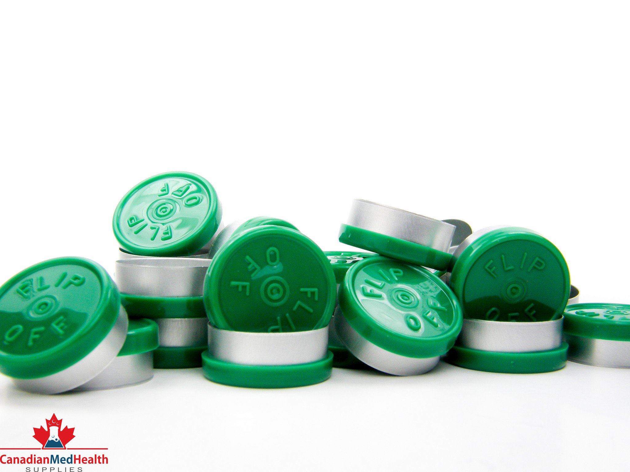 20mm Forest Green Flip-Off Cap - Flip-Off (1000, Case)