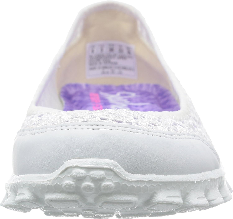 Skechers Ez Flex 2 Flighty, Ballerine Donna Bianco White Wht ftZROu