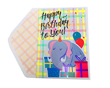 Amazon The Wrap It Happy Birthday Greeting Card