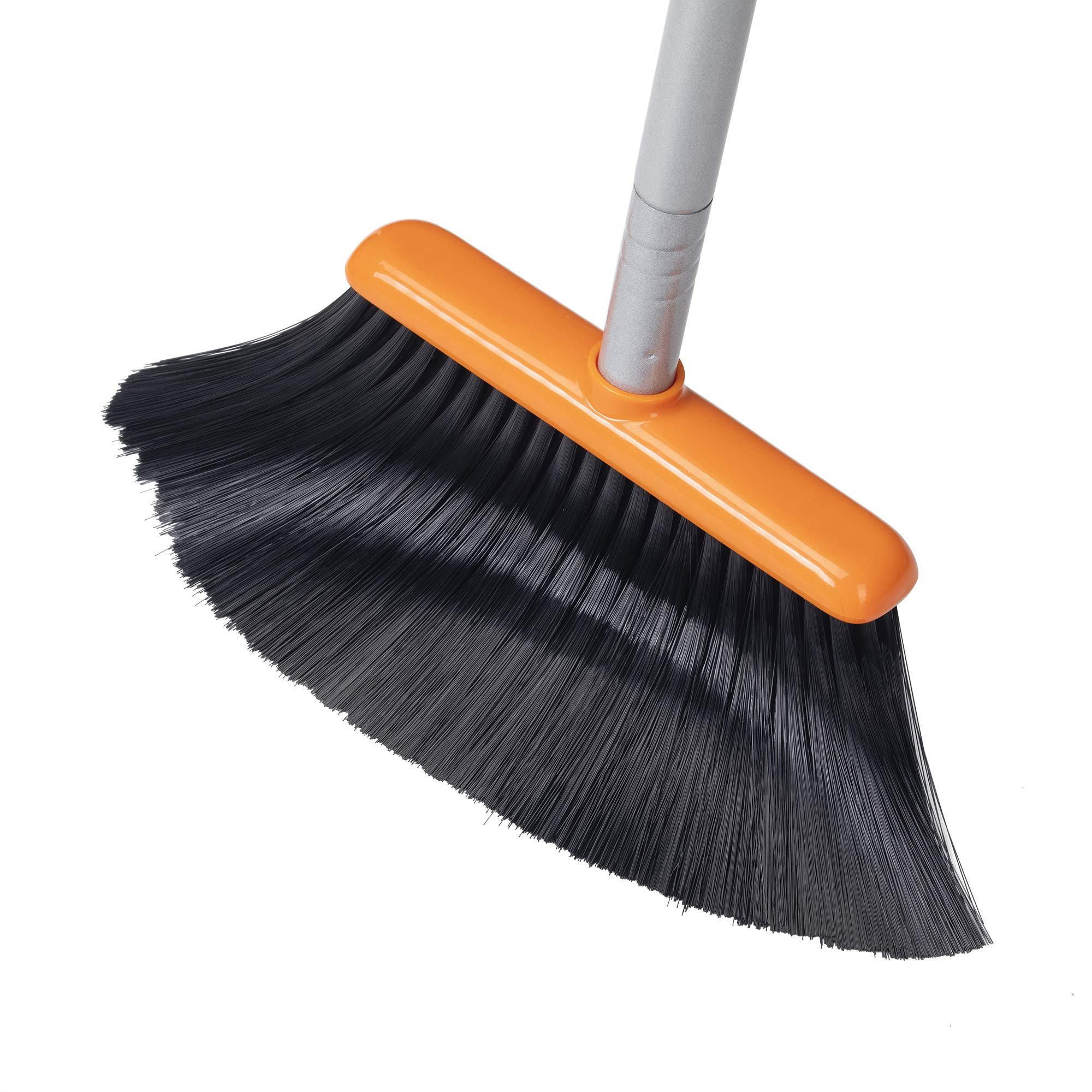 TooToo Broom and Dustpan Set, Sweep Set, Upright Broom and Dustpan Combo with 40''/54'' Long Extendable Handle for Household Cleaning Sweeping, Orange and Dark Grey by TooToo (Image #6)