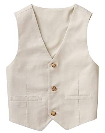 8f7a28c3779 Amazon.com  Gymboree Baby Boys 3-Button Linen Vest  Clothing