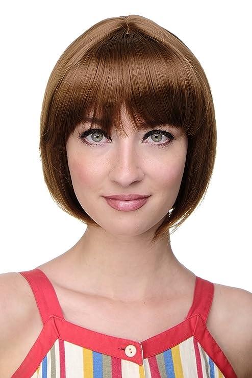 Wig Me Up Carre Sexy Perruque Frange Droite Brun Cuivre 703 30