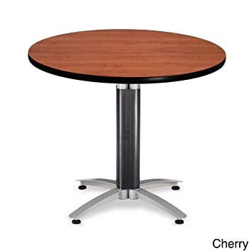 OFM KMT36RD CHY Round Multi Purpose Table, Metal Mesh Base, 36u0026quot;