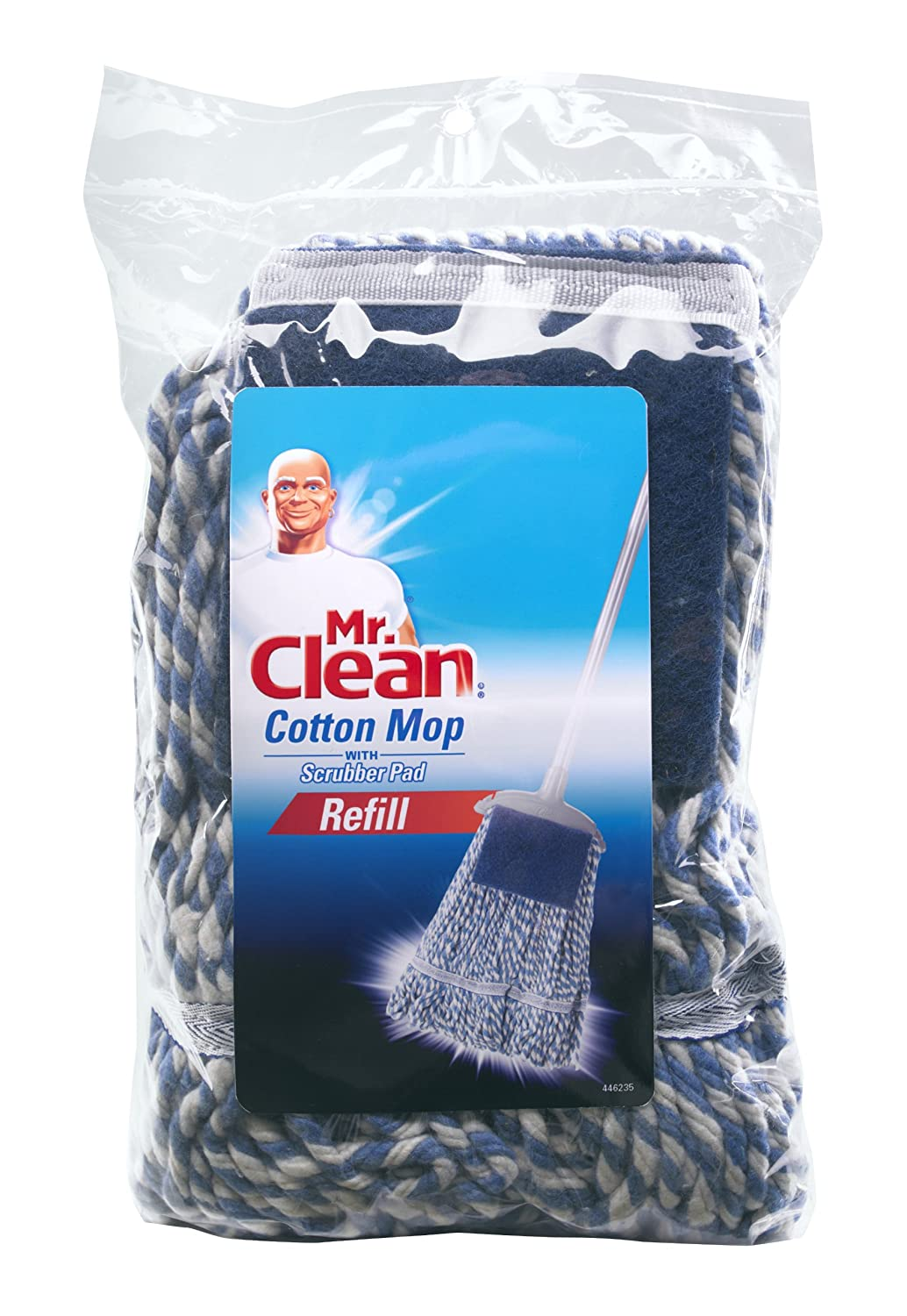 X-Large Mr Clean 446235 Cotton Mop with Scrubber Refill
