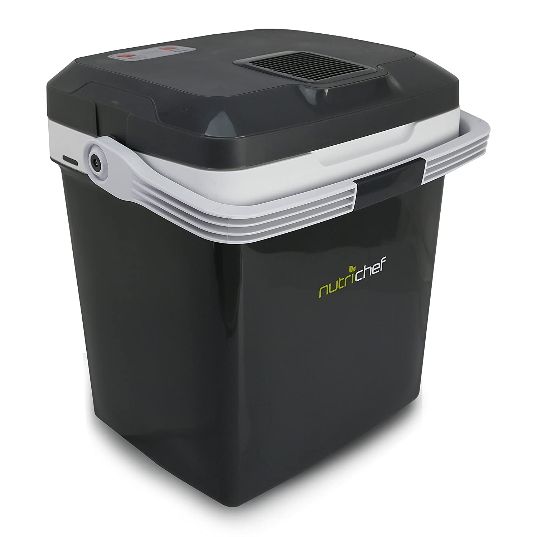 Plug In Cooler >> Amazon Com Nutrichef Pktcec28sl Portable Electric Cooler Fridge