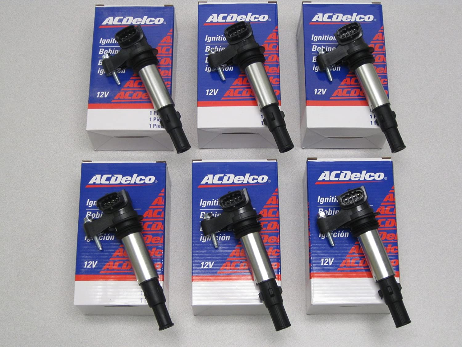 Set of SIX AC Delco Ignition Coils D501C/BSC1508, AC DELCO MEXICO