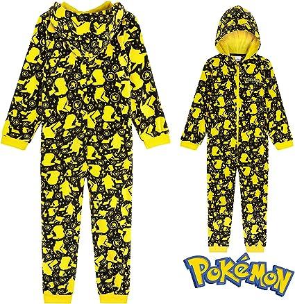 Pokèmon Pijama Niño de Una Pieza, Pijama Pikachu para Niños ...