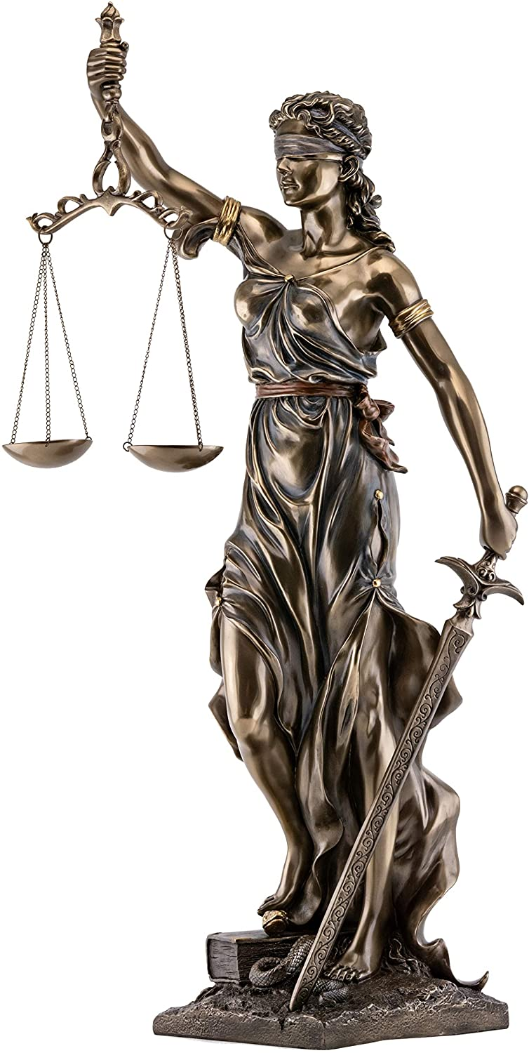 Top Collection Large Blindfolded Lady Justice Statue Holding Scales Of Justice And Sword Roman Goddess Of Law Sculpture In Premium Cold Cast Bronze 29 Inch Museum Grade Collectible Figurine Home