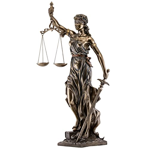 Top Collection Lady Justice Statue – Greek Roman Goddess of Justice – Collectible Museum Grade Figurine Large