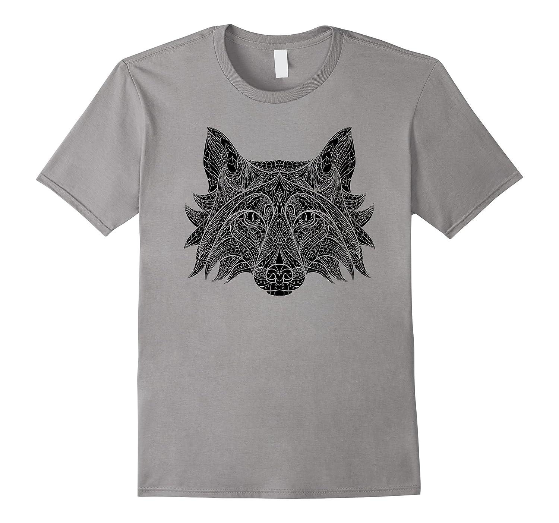 Cute Unique & Modern Aztec Fox Art T-Shirt & Gift | CUAI-FL