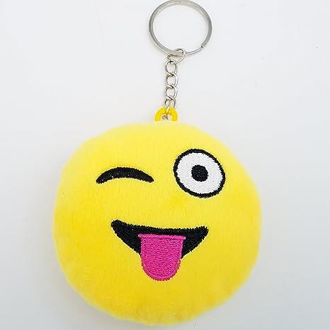 2 pulgadas Mini guiño Emoji Llavero Llavero - amarillo GN ...