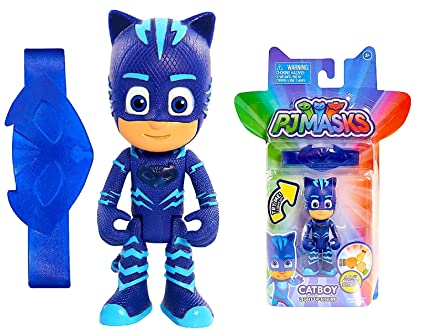 PJ Masks 3 inch Light Up Figure CATBOY With Wrist Band - Press Down on Catboys
