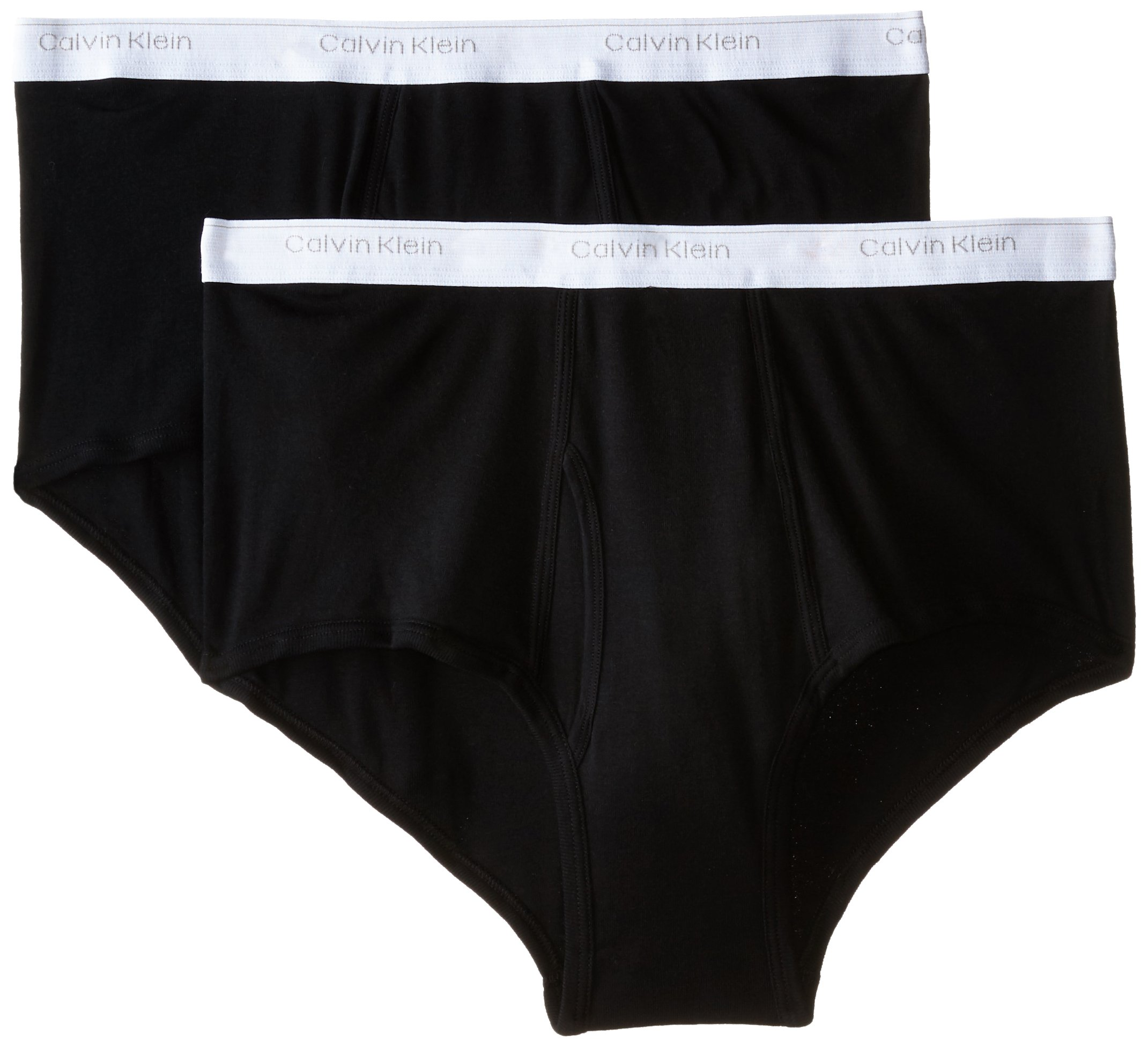 Calvin Klein Men's Big and Tall Cotton Classics 2 Pack Briefs, Black 58 by Calvin Klein (Image #1)