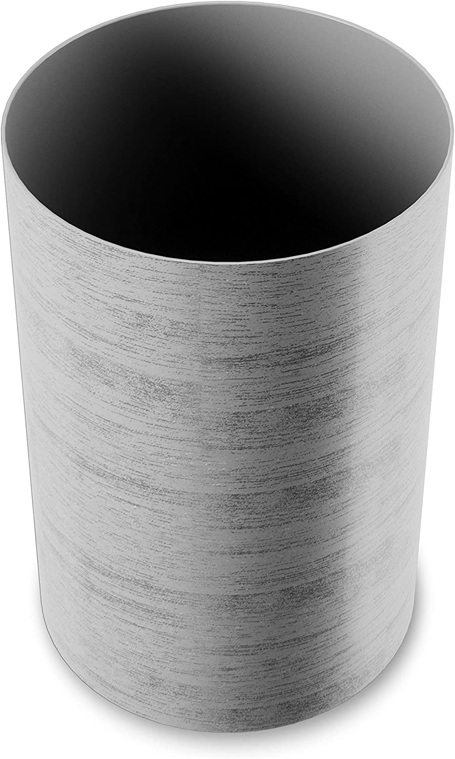 Umbra Treela Small Trash Durable Garbage Can Waste Basket for Bathroom, Bedroom, Office and More | 4.75 Gallon Capacity with Stylish Light Grey Barn Wood Exterior Finish, Graywood