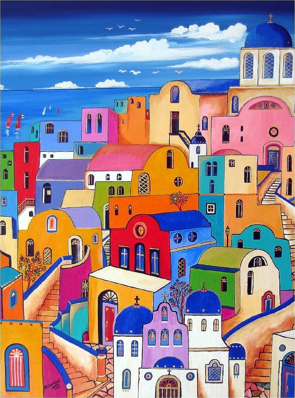 Amazon.com: Santorini Island Grecia Mar Egeo clásico ...