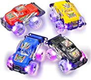 Light Up Monster Truck Set for Boys and Girls by ArtCreativity - Set Includes 2, 6 Inch Monster Trucks with Beautiful Flashi