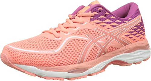 Asics Gel-Cumulus 19 Womens Pink Cushioned Running Sports Shoes Trainers