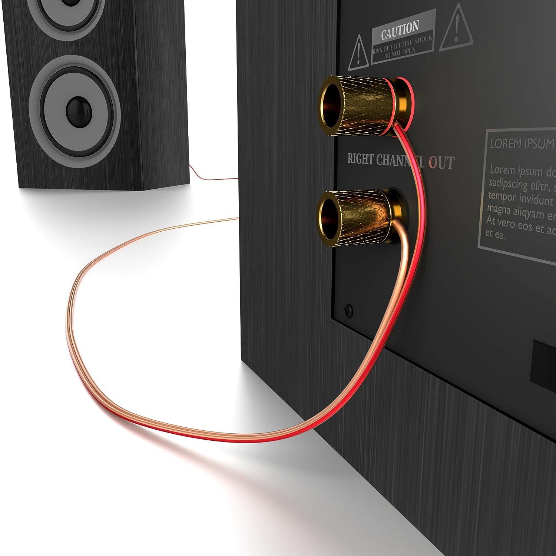 KabelDirekt Pro Series Lautsprecherkabel transparent: Amazon.de ...