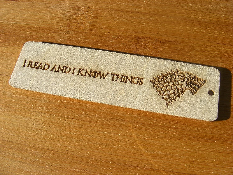 Segnalibro de Il Trono di Spade con lupo mannaro Stark by Fastcraft UK regalo da cucina con incisione al laser da matrimonio in legno