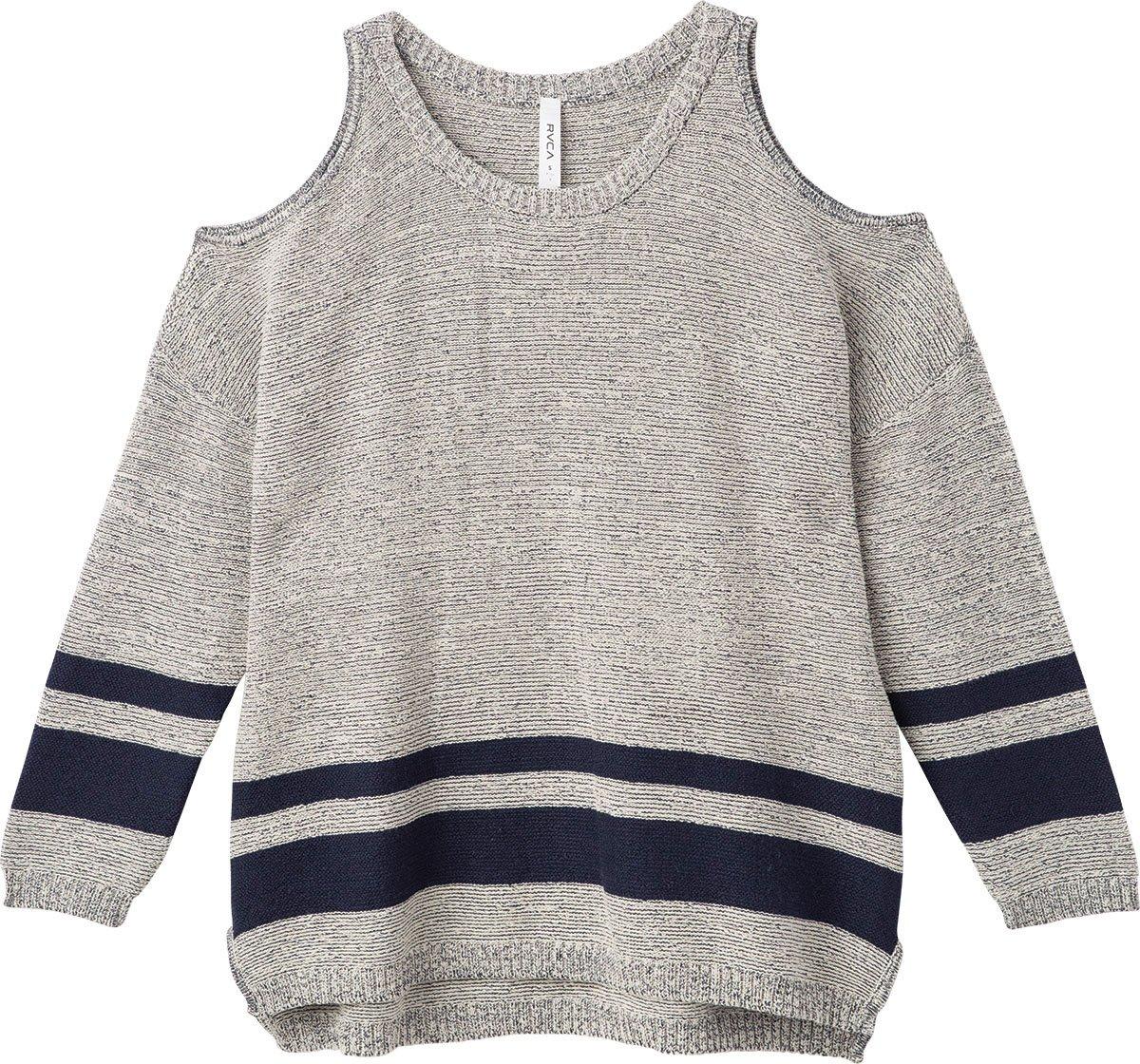 RVCA Women's Marked Sweater, Heather Grey, M