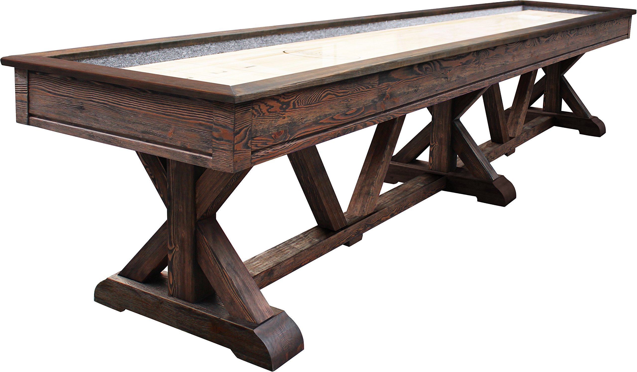 Playcraft Brazos River Pro-Style Shuffleboard Table, Weathered Brown, 16' by Playcraft