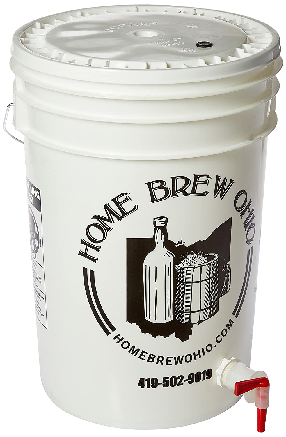 6.5 Gallon Bottling Bucket with Lid and Spigot for Bottling Beer Learn To Brew JW-B24X-JGSQ
