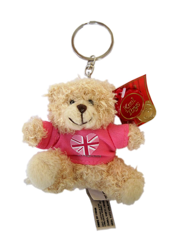 Londres Peluche Llavero - oso de peluche rosa que lleva T ...