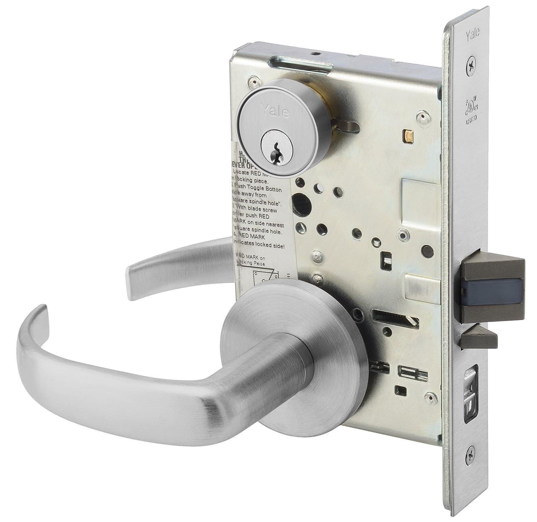 Yale PBR 8802FL 613E Heavy Duty Mortise Lockset Lever Privacy