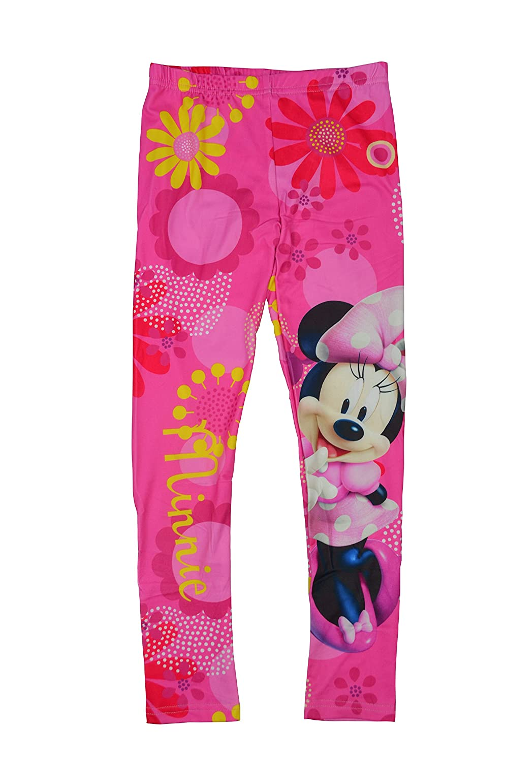 New 2018 Collection Disney Minnie Mouse Girls Shorts Spring Summer Leggings 3//4 Length 3-10 Years