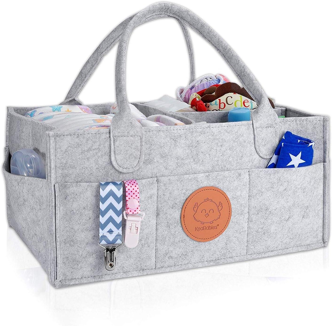 Bebé Organizador de Pañales - Grandes Organizadores para Bebés y Almacenamiento para Guardería - Cesto de Pañales Portátil - Regalo de Registro de bebé